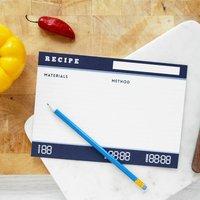 Set Of Scientific Recipe Index Cards