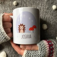 Personalised Hedgehog Mug