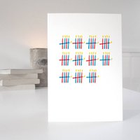 55th Birthday Card With 55 Candles Desgin
