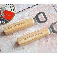 Personalised Dads Beer Bottle Opener