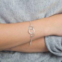 Circles Of Love Silver Bracelet, Silver