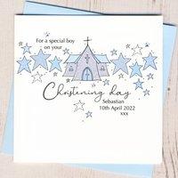 Personalised Boys Christening Card