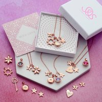 Lucky Dip Rose Gold Necklace, Gold