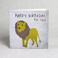 'Happy Birthday To You' Lion Card