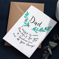 'Dad I Couldn't Be More Thankful' Christmas Card