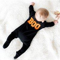 Boo Baby Halloween Black Sleepsuit