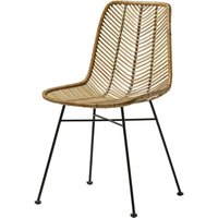 Lena Rattan Dining Chair In Natural Rattan