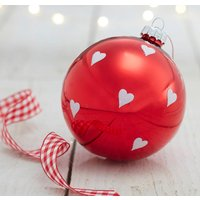 Red Glitter Hearts Bauble