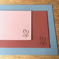 Heart Engraved Leather Desk Mat
