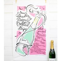 Prosecco And Strawberry Tea Towel Gift