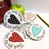 Teacher Gift Spotty Mirror