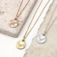 18ct Gold Or Sterling Silver Molten Mini Drop Necklace, Silver