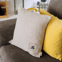 Bee Soft Washed Linen Cushion