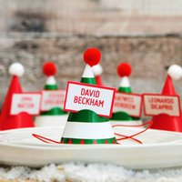 Christmas Name Game Party Hats