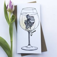 Pouting Pinot Personalised Celebration Card