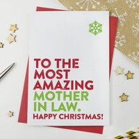 Most Amazing Mother In Law Christmas Card