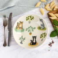 Handmade Ceramic Cat Pasta Bowl