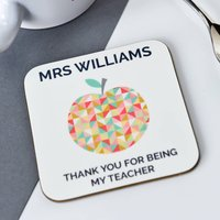 Personalised Teacher Thank You Coaster
