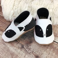 Personalised Badger Baby Shoes