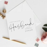 Personalised Husband Card | Modern Text Wedding Card