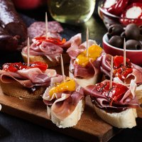 Spanish 100% Acorn Fed Iberico Jamon With Wooden Stand