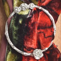 Rose English Pewter Scarf Ring. Handmade In The UK
