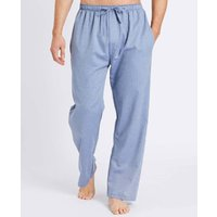 Mens Garrison Blue Herringbone Pyjama Trousers