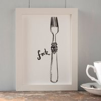 Fork Print For The Kitchen Or Dining Room Two Sizes