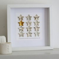 Personalised Gold Star Congratulations Gift