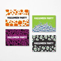 Halloween Invitation Card Pack With Envelopes
