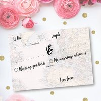 Pack Of 25 Travel Wedding Advice Cards
