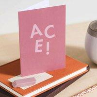'Ace' Funny Congratulations Card