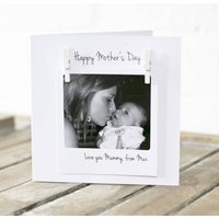 Personalised Peg Photo Message Card