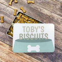 Personalised Dog Biscuit Tin