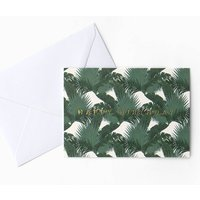 Tropical Palm Birthday Card