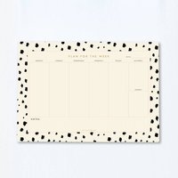 A4 Weekly Planner Desk Pad Dalmatian Print