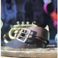 Handmade Leather Belt Brown
