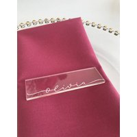 Clear Acrylic Modern Calligraphy Place Card
