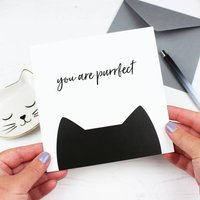 'You Are Purrfect' Cat Card