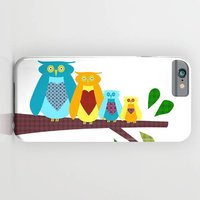 Owl Family On The Phone Case