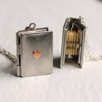 Silver Book Locket, Silver