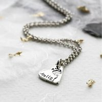 Hand And Footprint Heart Charm On A Chain