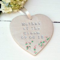 Mother Of The Groom Hanging Heart