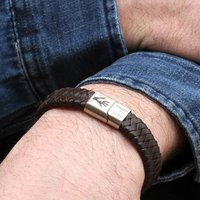 Hand In Hand Personalised Men's Leather Bracelet