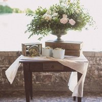 Cream Crumpled Cotton Table Runner / Tablecloth