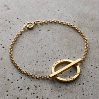 Personalised Circle Bar Pendant Bracelet