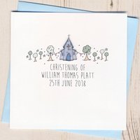 Personalised Christening Congratulations Card