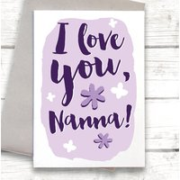 I Love You Nanna, Mother's Day Card
