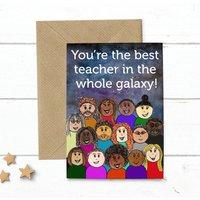 Thank You Best Teacher Galaxy Card