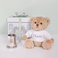 Bertie Bears Traditional Pewter Christening Tankard